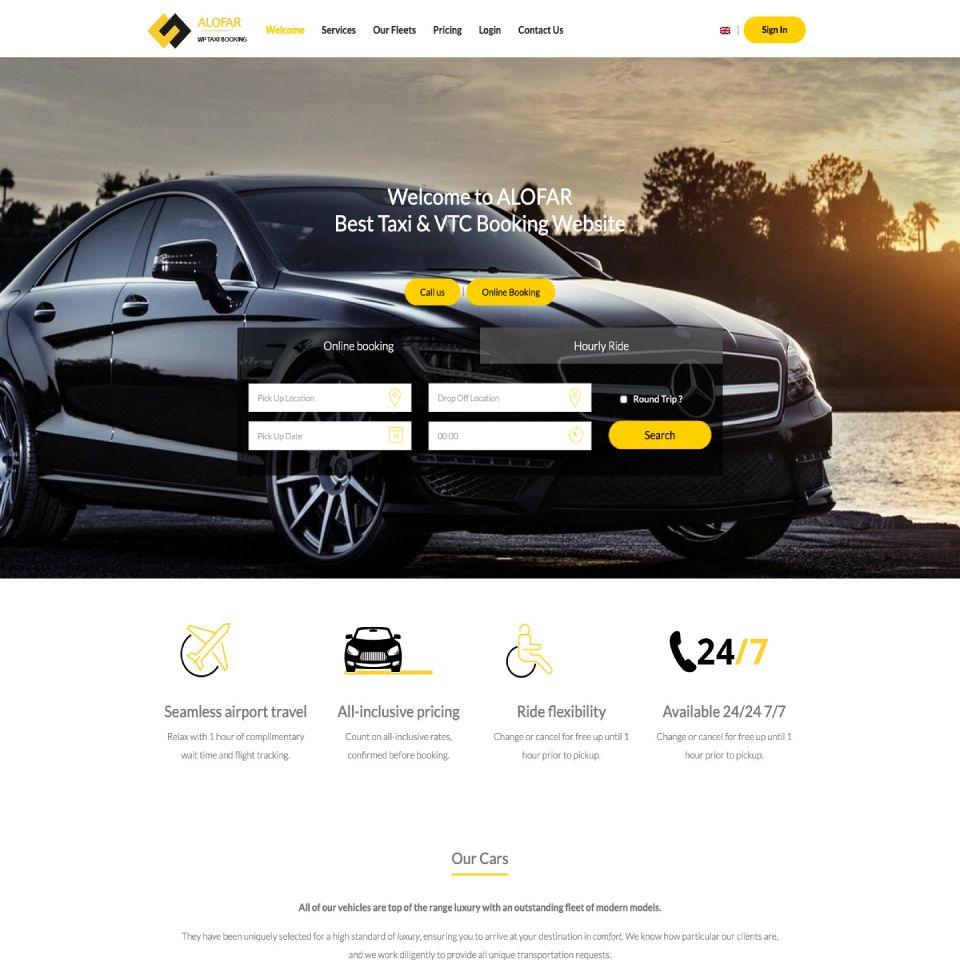 Alofar Taxi & VTC Theme Wordpress