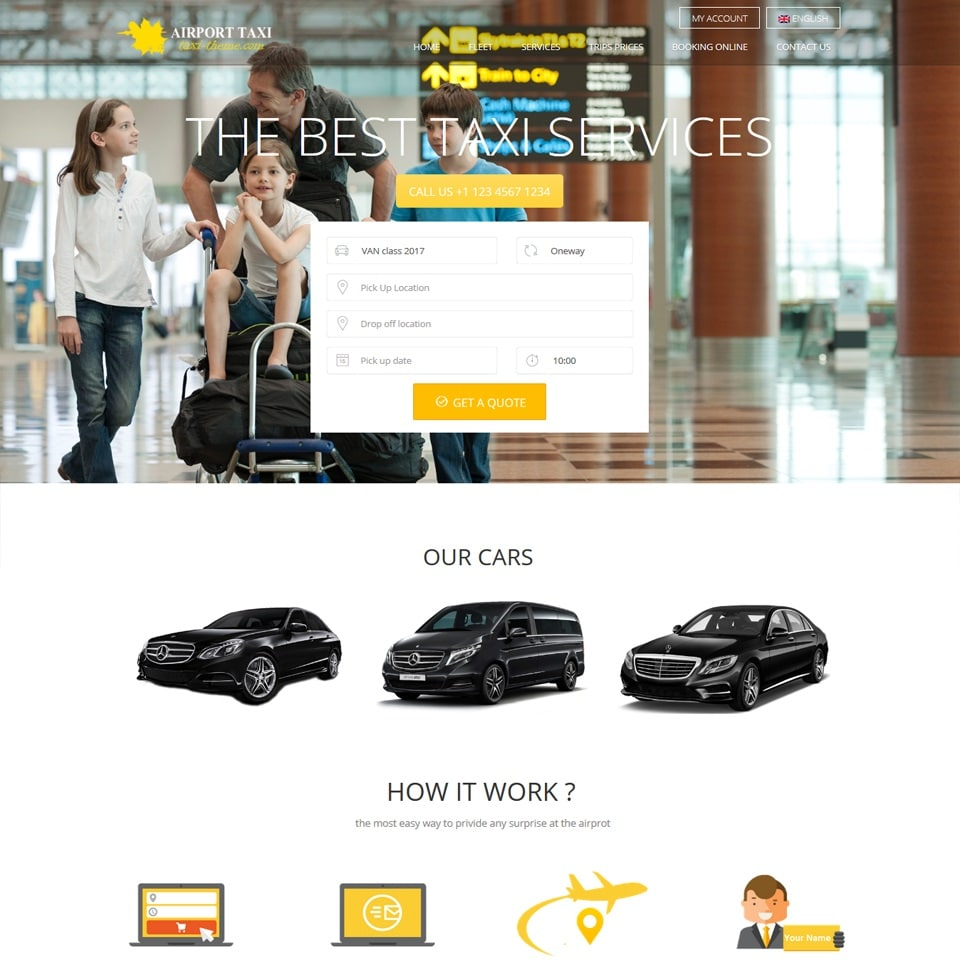 The taxi theme wordpress
