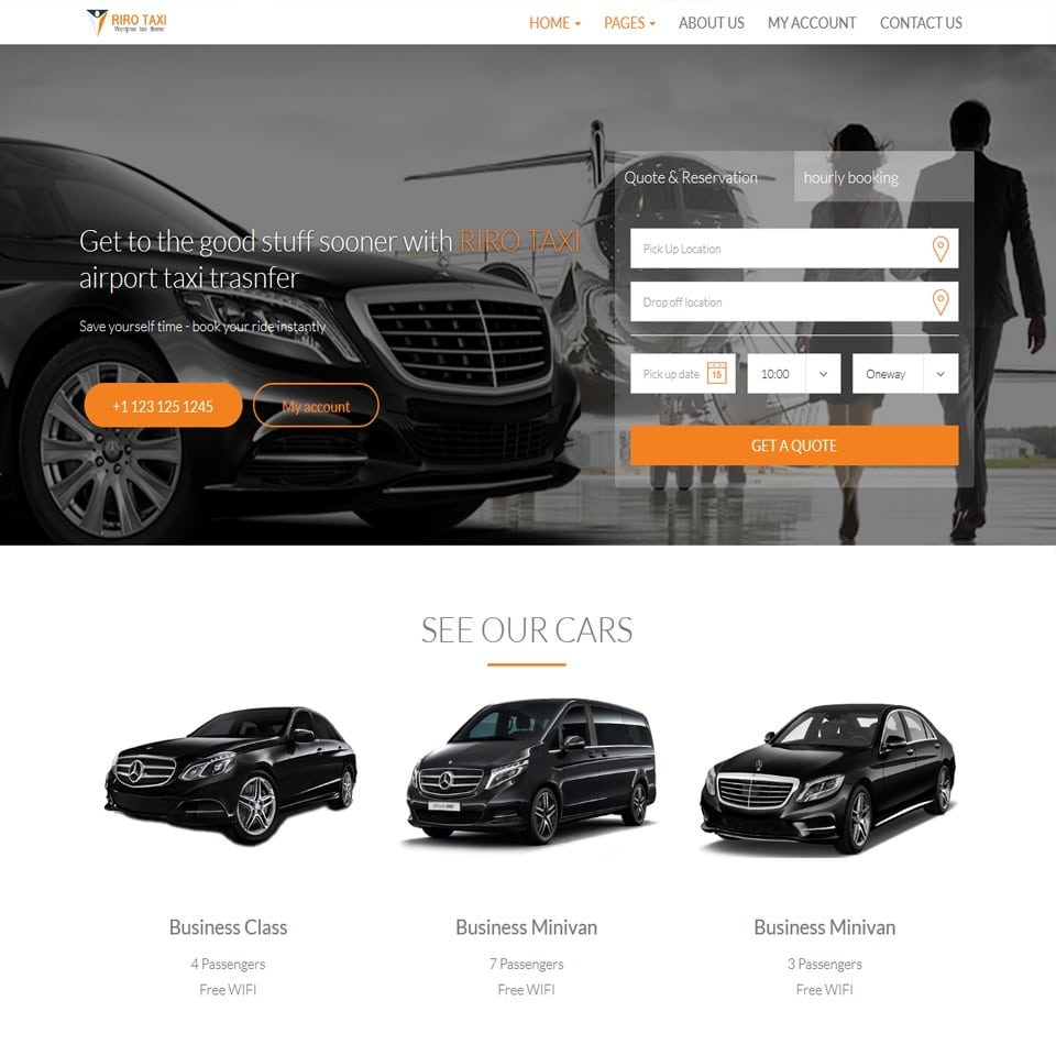 Riro wordpress taxi theme