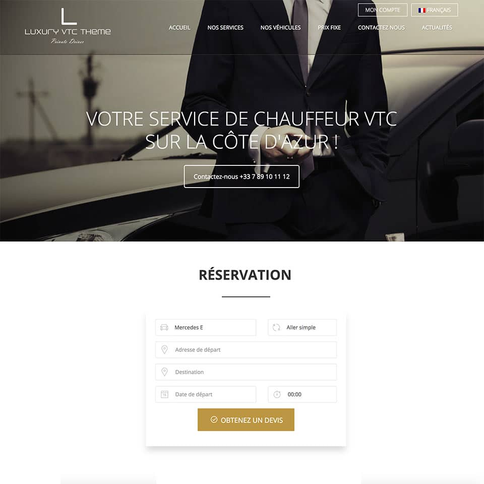 Luxury VTC & TAXI theme